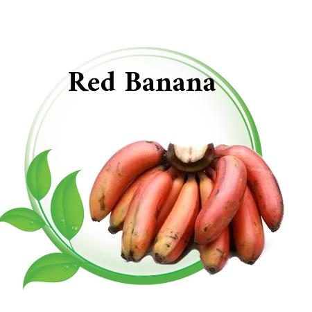 Red banana in Asian markets Riyadh